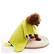 FONPOO Dogs Cats Puppy Hand Pockets Towel Cute Lovely Ultra Soft and Comfortable Fast-Dry Absorbent Teddy Warm Quick-dry 2 pcs Green/Brown