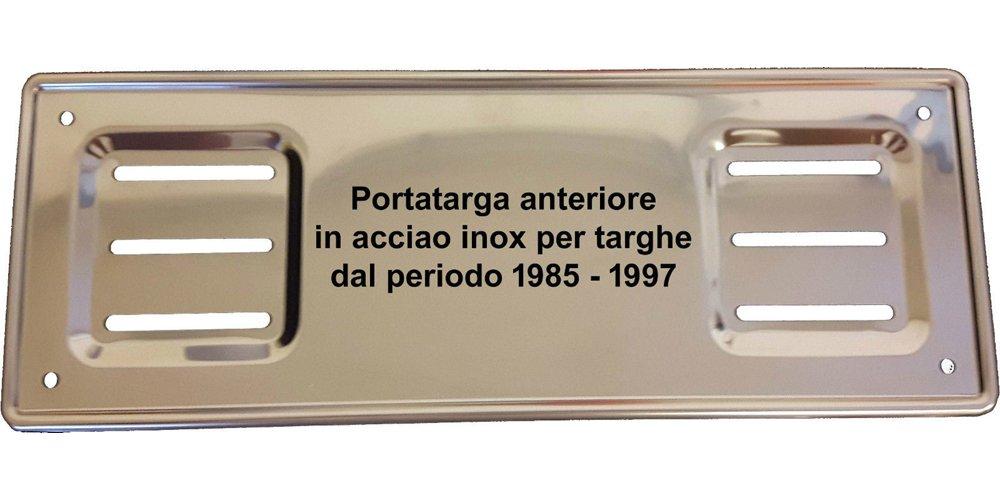 Targhe Storiche srl Portatarga Cornice Anteriore IN ACCIAIO INOX dal 1985 al 1997