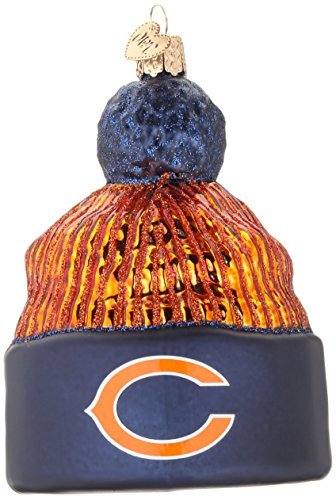 - Old World Christmas Glass Blow Christmas Ornament Chicago Bears Beanie