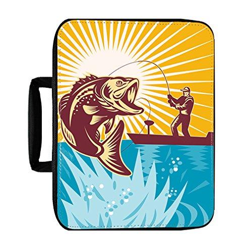 Largemouth Kit - Largemouth Bass Fisherman Fishing Rod Insulated Lunch Box Bag
