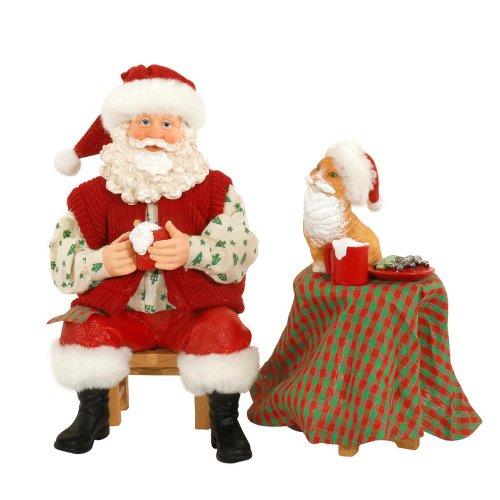 Set Of 4 15 To 18 Victorian Carolers By Santa S Workshop: Amazon.com: Dept 56 Possible Dreams Catfeinated Santa 2