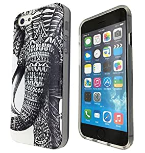 2D- iphone 6 4.7'' Aztec Ornate Elephant Cool Funky Design Fashion Trend Case Back Cover Silicone Gel Rubber Design by ruishername
