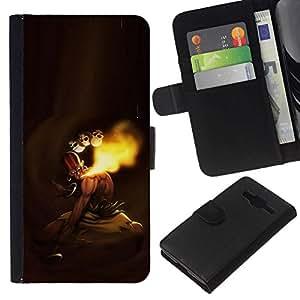 All Phone Most Case / Oferta Especial Cáscara Funda de cuero Monedero Cubierta de proteccion Caso / Wallet Case for Samsung Galaxy Core Prime // MK Indian Fighter