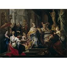 'Conca Sebastiano La Idolatria De Salomon Ca. 1750 ' Oil Painting, 30 X 41 Inch / 76 X 105 Cm ,printed On Perfect Effect Canvas ,this High Quality Art Decorative Prints On Canvas Is Perfectly Suitalbe For Kids Room Decoration And Home Gallery Art And Gifts