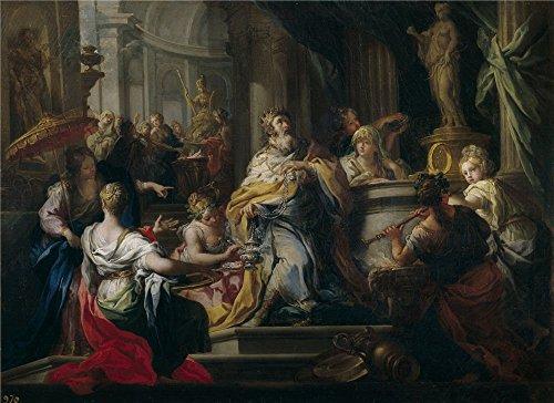 'Conca Sebastiano La Idolatria De Salomon Ca. 1750 ' Oil Pai