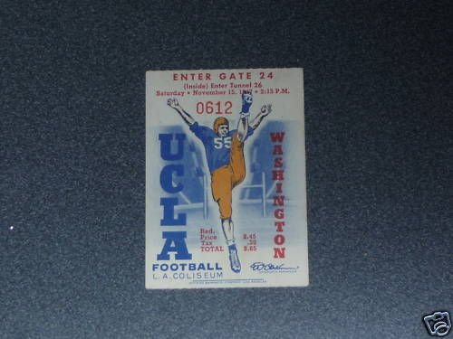 1947 WASHINGTON AT UCLA COLLEGE FOOTBALL TICKET, used for sale  Delivered anywhere in USA