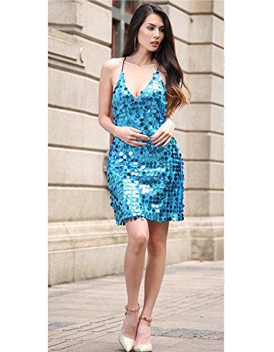 Kleid Damen IHRKleid® Party Pailletten Kleid Ball Partei Kurzer Rock ...