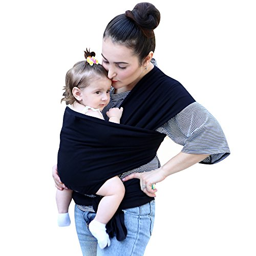 Simply Life Baby Wrap Carrier – Flexible Adjustable Wrap Around Sling, Infant Carriers for Men and Women, Suitable for Newborn and Toddlers Up to 35 Lbs, Nursing Cover Swaddle Blanket – Large, Black Review