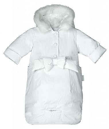 ada93b245 Amazon.com: PramieKids White Snow suit 3-6m: Baby