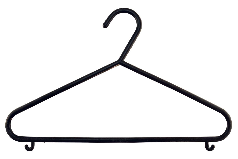 Schwarz 16 St/ück Bieco Kinder Kleiderb/ügel Kunststoff