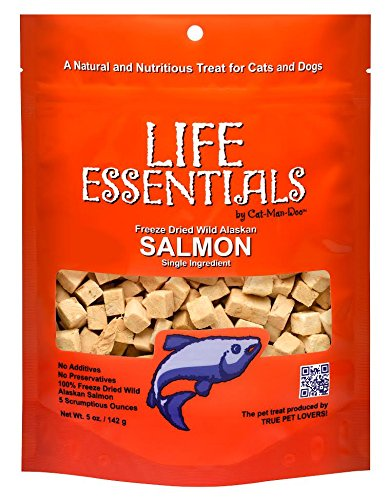 cat treats freeze dried salmon - 1