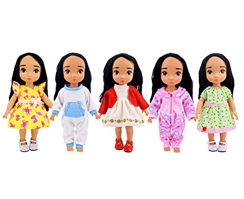 Ebuddy 5pc/Set Bitty Baby Doll Clothes For 14-16 inch doll (15 Inch Clothes Doll Dolls For)