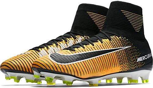 Nike Men's Mercurial Superfly FG Soccer Cleat (Sz. 9.5) Laser Orange, Black by NIKE