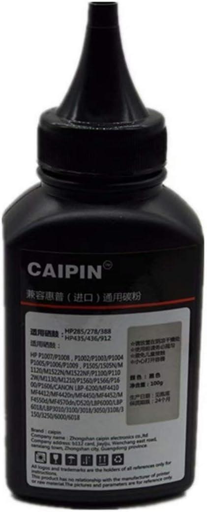 100g//Bottle,1 Pack 100G Original Black Refill Printer Toner Powder Kit for HP P2015N M2727 1320 P2014 P2015 P2015D P2015N M2727 2400 2410 2420 2430 Laser Toner Power Printer