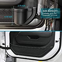 INSAUTO Car Door Pocket Front Door Side Storage for Jeep Wrangler JL JLU 2018 2019 2020 Organizer Grab Cup Holder Only for Front Door Tray Replacement Interior Accessories