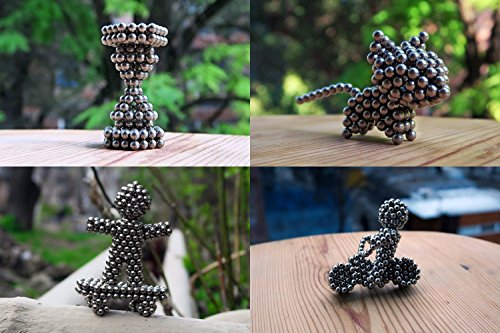 Magnetic Balls: Sculpture Desk Toy, Fidget, Stress Anxiety Boredom Relief, Intelligence Development, Office Decoration, 5mm, 216 balls