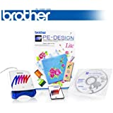 Brother PE Design Lite Embroidery Software - Comes with Rewritable Embroidery Card + Reader/Writer Box + Auto-Digitizing Capabilities + 35 Fonts!!!
