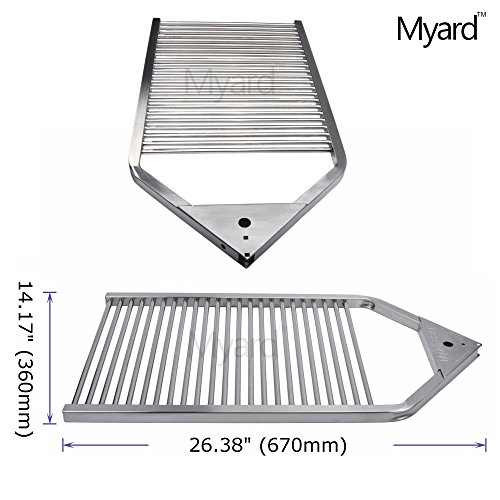 Myard stainless steel portable open fire pit campfire