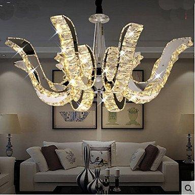 CC LED Kristall Lampe mit modernem Luxus Kerze Kristall Pendelleuchte weiß-220-240v