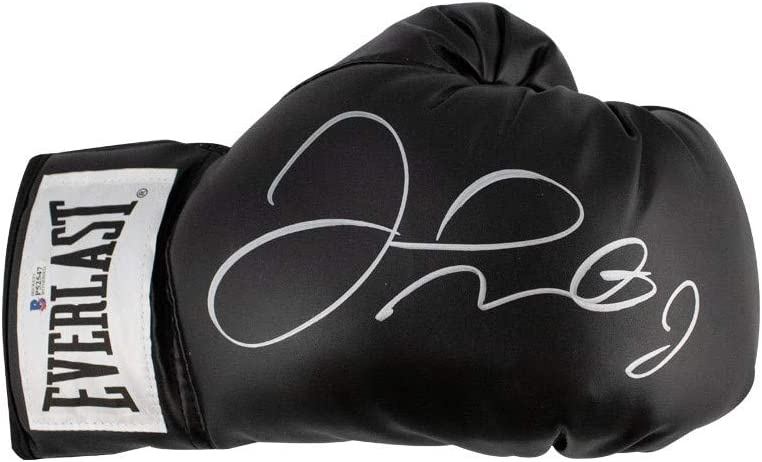 BAS COA Floyd Mayweather Autographed Everlast Black Boxing Glove