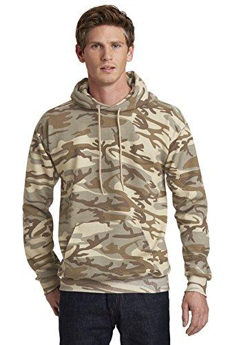 Port & Company Classic Camo Pullover Hooded Sweatshirt PC78HC Desert Camo Medium ()