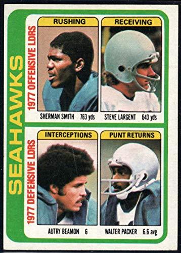 Football NFL 1978 Topps #526 Sherman Smith/Steve Largent/Autry Beamon/Walter Packer TL - Steve Football Nfl Smith