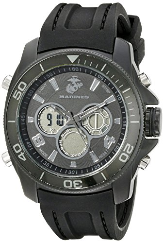 Wrist Armor Mens 37100013 U. S. Marine Corps Analog-Digital Display Quartz Black Watch