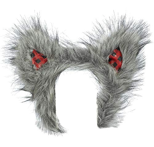 Suit Yourself Little Red Riding Hood Wolf Ears Headband for Adults, One Size, Measures 8 1/2 Inches by 7 1/2 Inches -