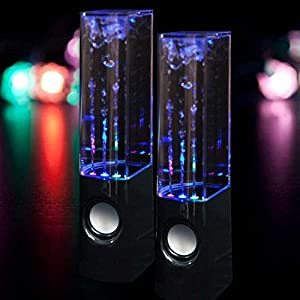 e-Joy Water Dancing Music Box Audio Player Computer Speakers, Black water speaker