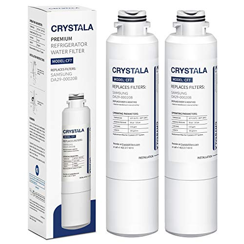 Samsung DA29-00020B Refrigerator Water Filter Replacement for DA29-00020B, DA29-00020A, HAF-CIN/EXP, 46-9101, By Crystala Filters, Pack of -
