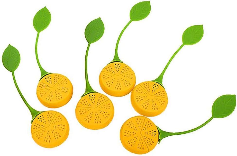 diffuseur jaune de filtre de th/é de sous-marin de silicone 2pc, Forme de citron+2pc, Forme fraise CRIVERS Infuseur innovateur de th/é et passoire /à th/é
