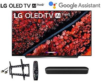 LG OLED65C9PUA C9 65 inch Class 4K Smart OLED TV w/AI ThinQ Bundle w/Sonos Beam Soundbar w/Flat Mount and HDMI Cable