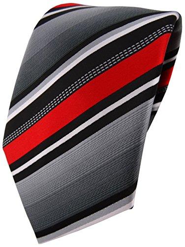 TigerTie Red Necktie Striped Men's White Silver Grey qq60Uxa