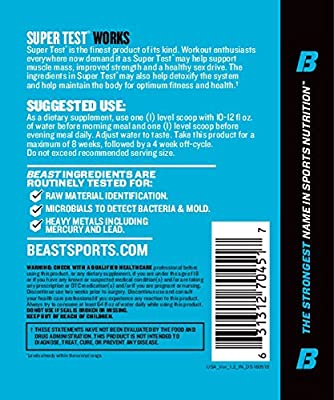 Beast Sports Nutrition Super Test Powder (Fast-Acting Test