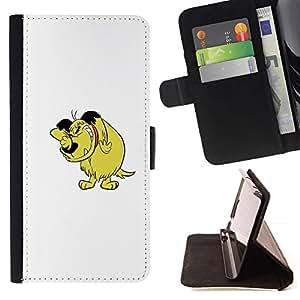 Momo Phone Case / Flip Funda de Cuero Case Cover - Carácter cómico del Arte Dibujo Historieta del perro - LG G4