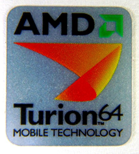Original AMD Turion 64 Sticker 17 x 19mm [30] ()