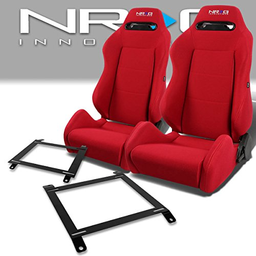 Miata Racing Seat - Pair of RSTRLGRD Racing Seats+Mounting Bracket for Mazda Miata w/Bucket Seat