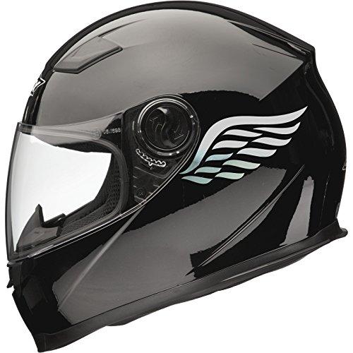 ANGEL WINGS Motorbike Helmet Sticker Car Decals (Pair) 80mm x 40mm - Mirror...