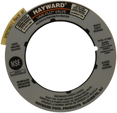 - Hayward SPX0710G Label Plate Replacement for Hayward Multiport and Sand Filter Valves