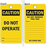Do Not Operate, Heavy Duty 15 mil thick Vinyl Tag, 25 Tags / Pack, 3.25'' x 6''