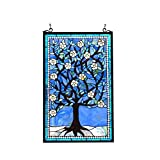 Stained Glass Lighting Tree Of Life Window Panel 20 X 32''