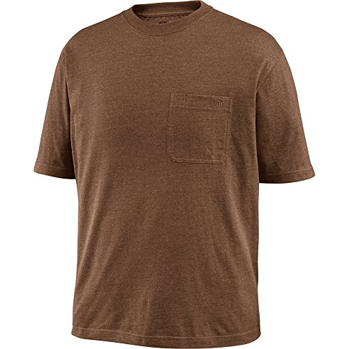 Wolverine Men's Big Knox Wicking Short Sleeve Pocket Big & Tall T-Shirt, Bison Heather, 2X-Large/Tall -