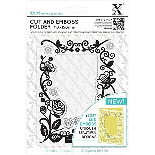 DOCrafts XCU503804 Xcut Cut & Emboss Folder 110mm X 150mm-floral Frame by DOCrafts