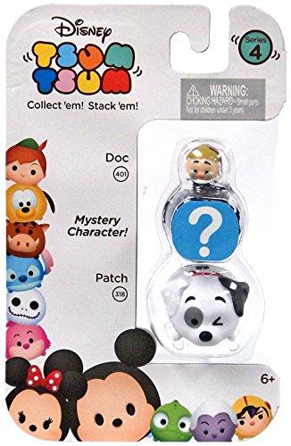 "Disney Tsum Tsum Series 4 Doc & Patch 1"" Minifigure 3-Pack"