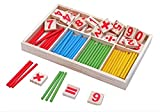 Montessori Wooden Number Math Game Sticks Box Set Materials Educational Wood Toy