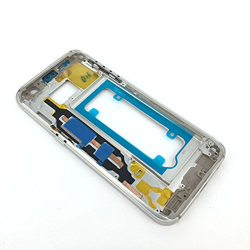 Middle Frame Housing - E-repair Middle Frame Housing Back Cover Bezel Side Buttons Samsung Galaxy S7 G930 (Silver)