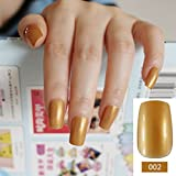 M Series Long Square Candy Nails Lady Flase Nails Acrylic Tips Kit 24pcs with Glue Sticker