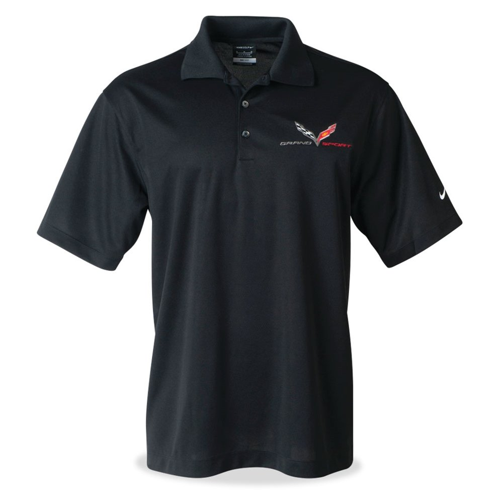 Corvette - Men's Nike Dri-Fit Polo : C7 Grand Sport (XX-Large, Black)