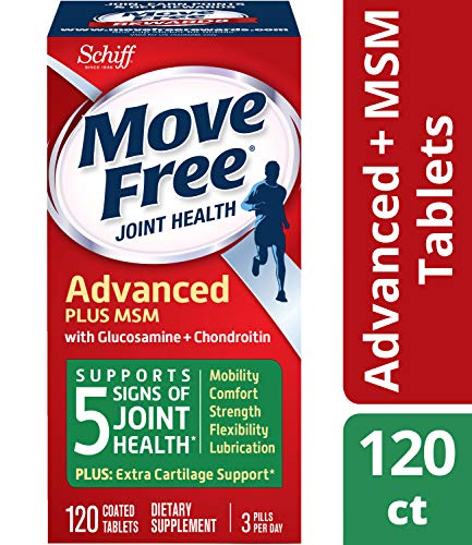 Move Free Joint Health Supplement Tablets, (120 count in a bottle), Supports Mobility, Flexibility, Strength, Lubrication and Comfort (Vitamins For Bones And Joints And Muscles)