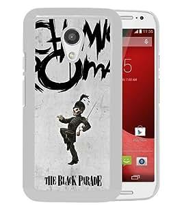 Popular Custom Designed Case For Motorola Moto G 2nd Generation With My Chemical Romance White Phone Case